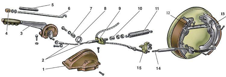 6 2505v - Рычаг ручного привода колодок