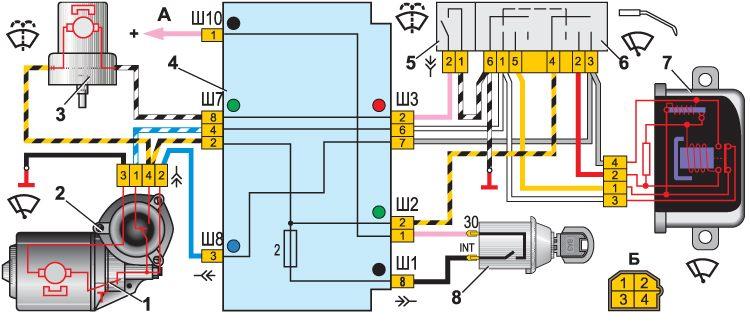 Электросхема омывателя