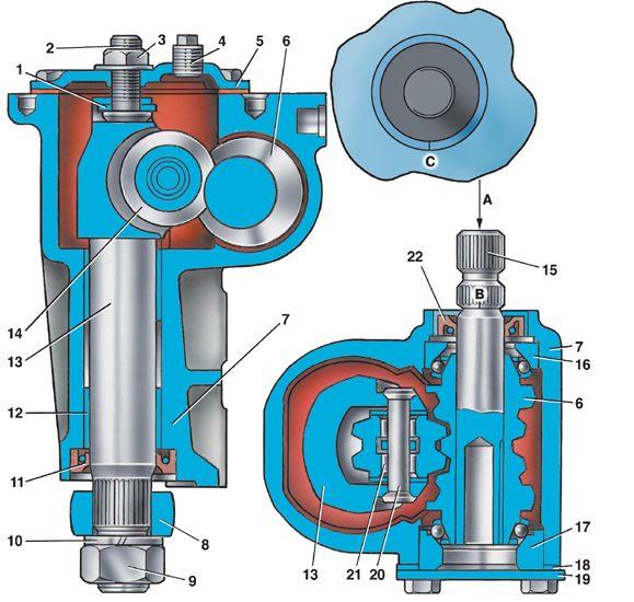 Ремонт редуктора рулевого управления ваз 2104